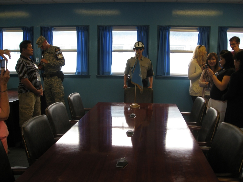 On the North Korean border in the JSA.