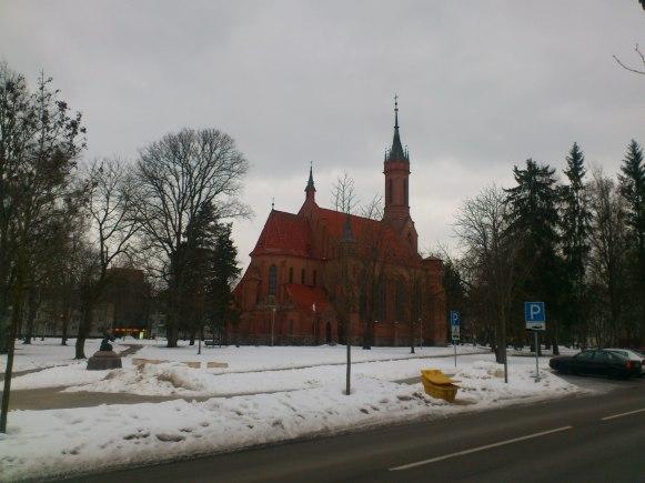 Pretty church in the centre of Druskininkai, Lithuania.
