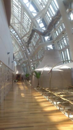 Inside the glass dome relation area, Spa Land, Shinsaegae, Centum City, Busan South Korea