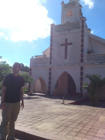 Jeffski at Dare Church, which is not the memorial cafe and museum, Dare, East Timor