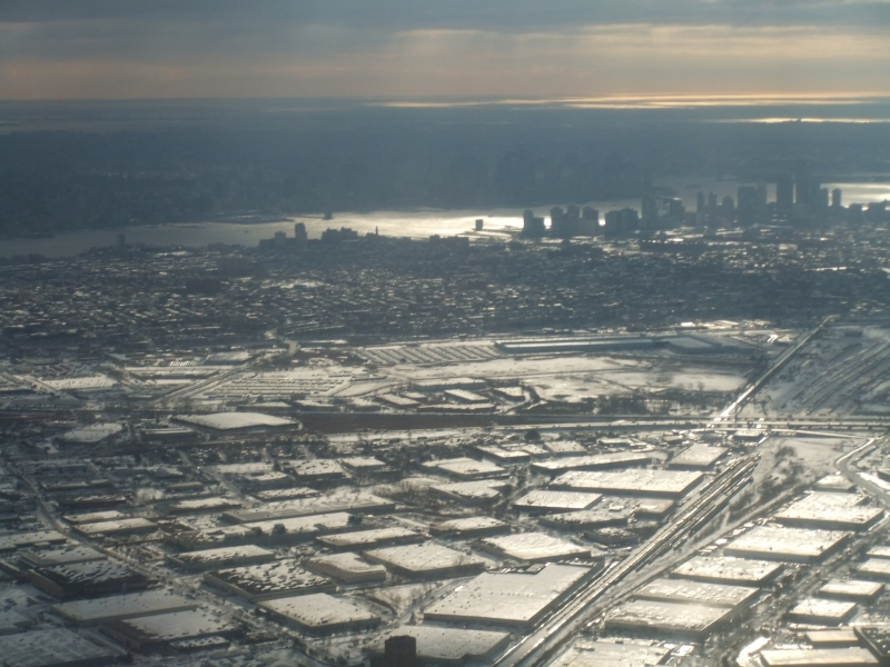 Flying in to a frozen Newark Airport, December 2010.
