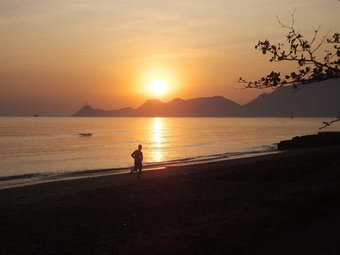 Sunrise over Dili Bay, East Timor