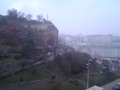 The cave church as seen from the Gellert.
