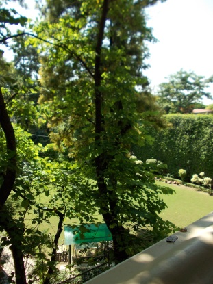 3- The hotel garden
