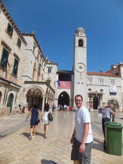 Sponza Palace and the clock tower