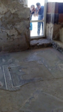 Roman mosaics in the bath house