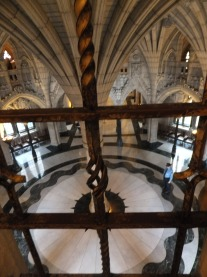 At the bottom of the Peace Tower